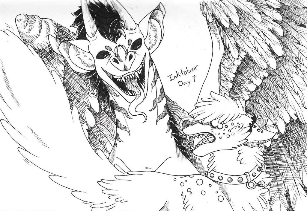 Inktober - Day 7 by Dragon-Scratch