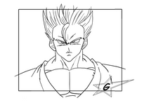 Gohan test mouvements des cheveux, hair movement by GAM001