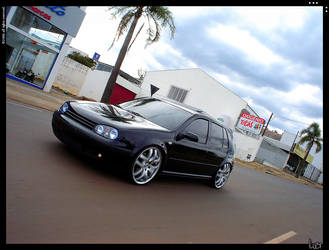 Vw Golf with Angel Eyes