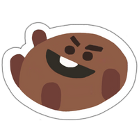 BT21 Shooky Sticker by baebwi