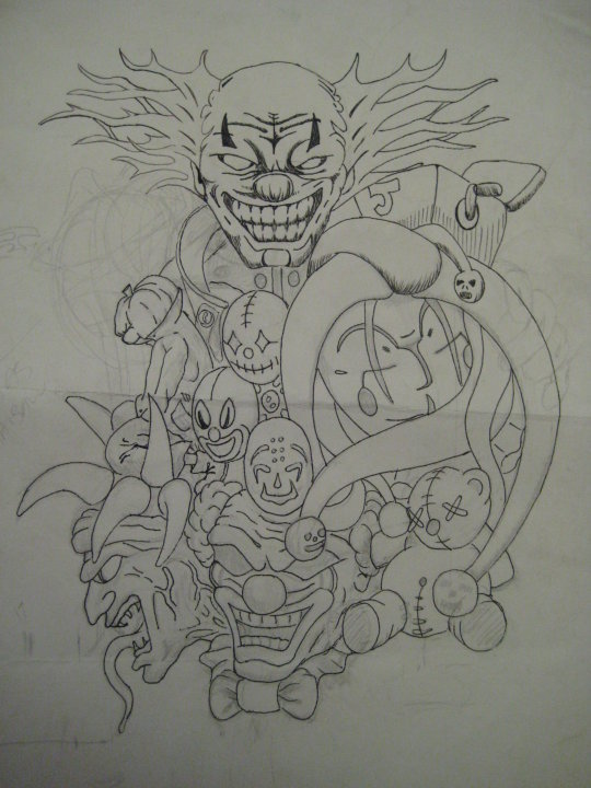 Clown Sleeve - sleeve tattoo