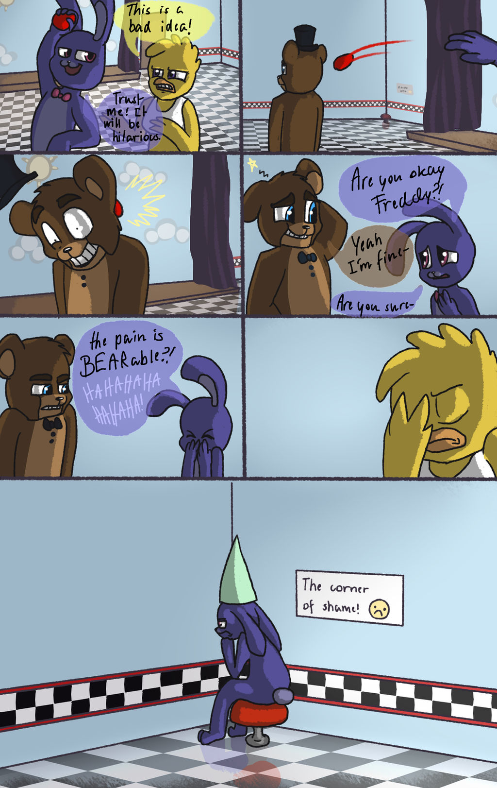 Fnaf Comics En Español short comics on fnaf-comic-zone - deviantart