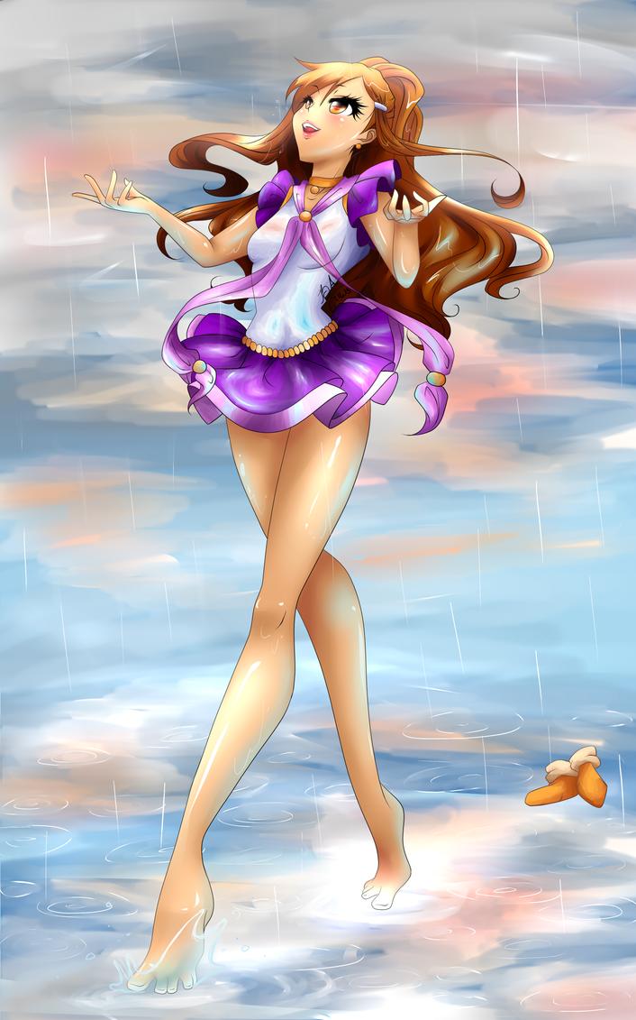 Aurora in the rain~ by Maiyuna