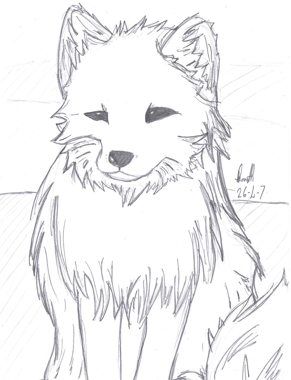 baby arctic fox coloring pages cute - photo #45