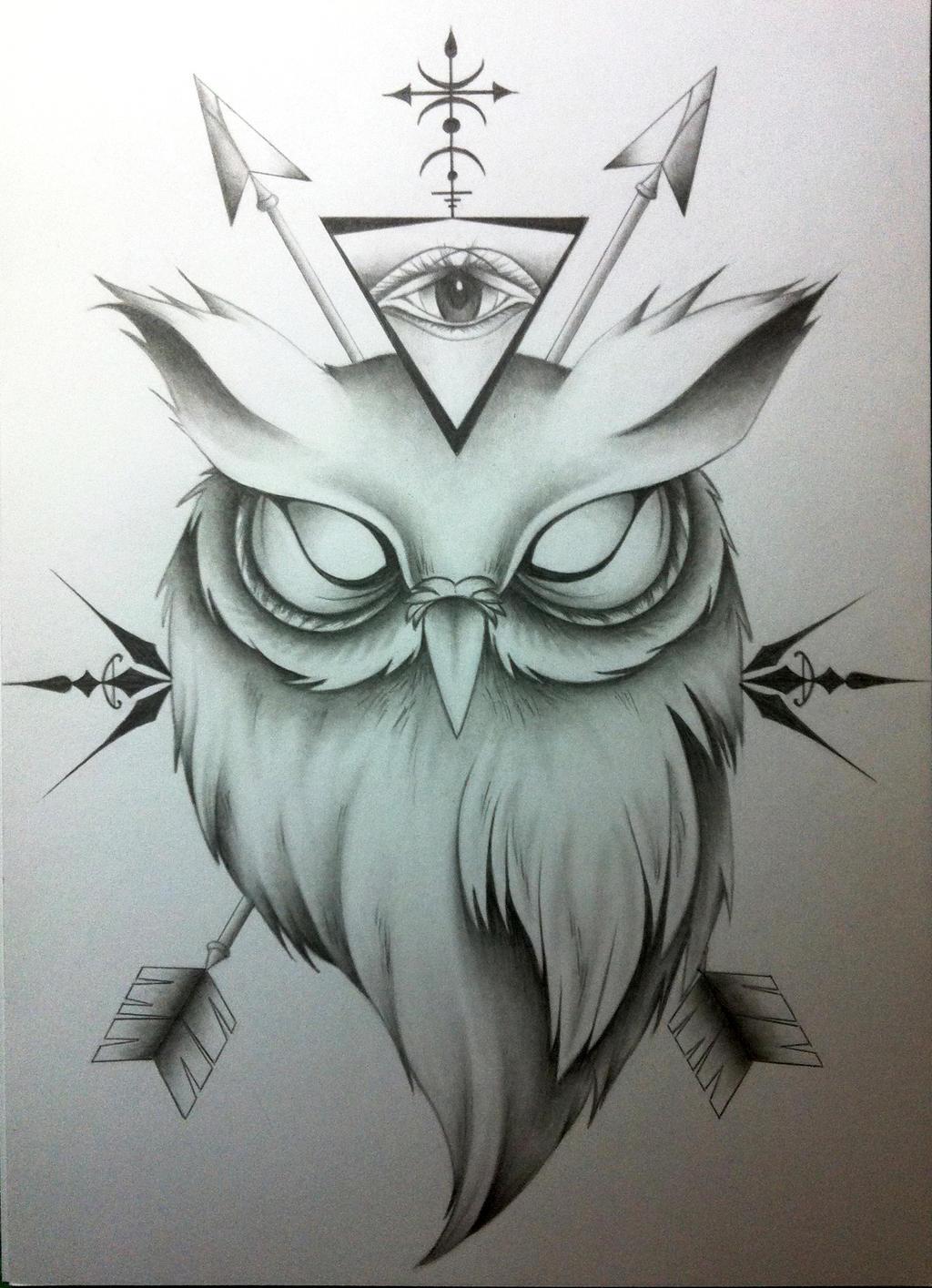 owl tattoo by behindthemood on deviantart