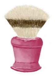 Shaving brush by NeuroticNarwhal