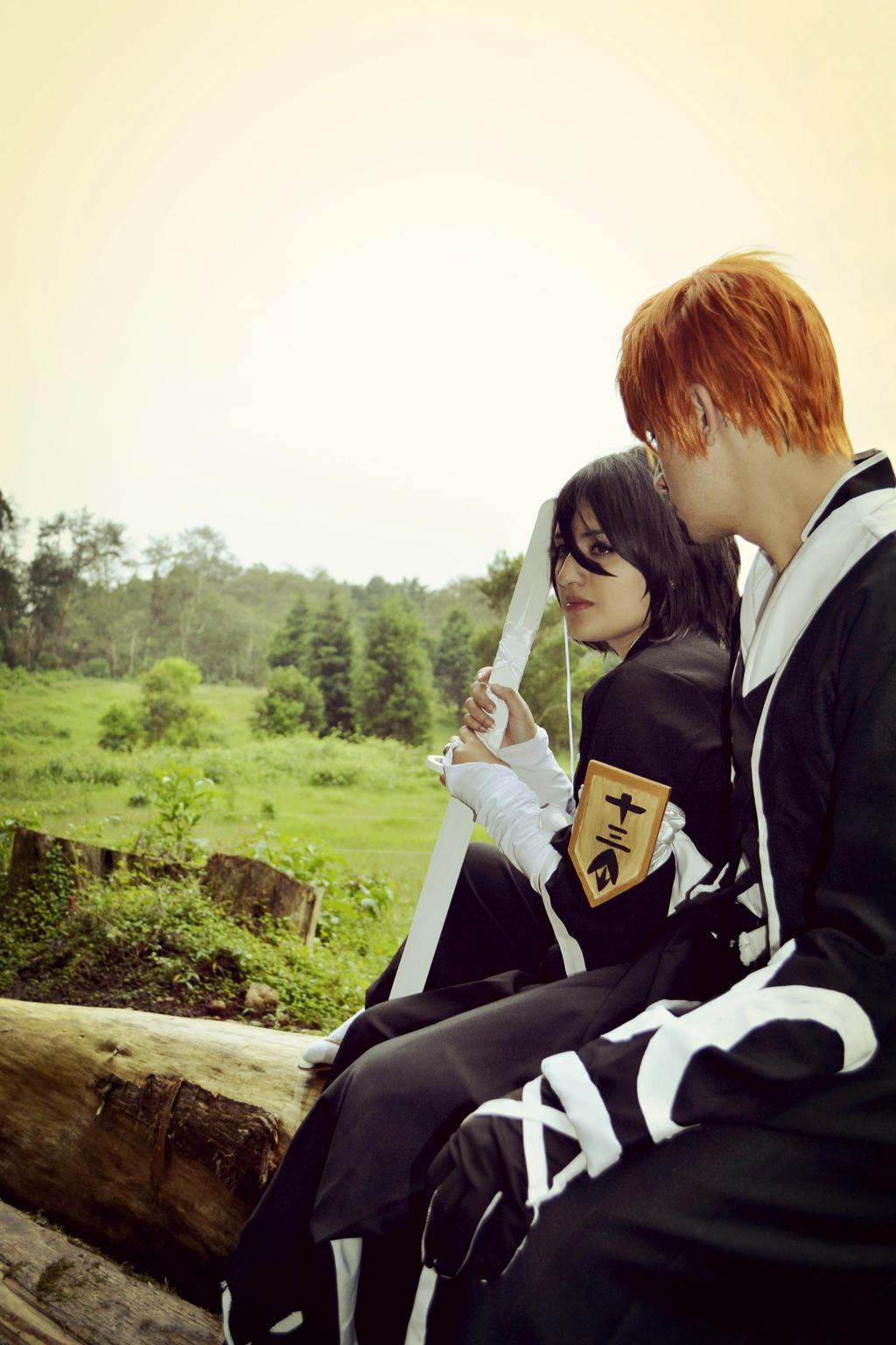Rukia and Ichigo by PrincessTeppelin