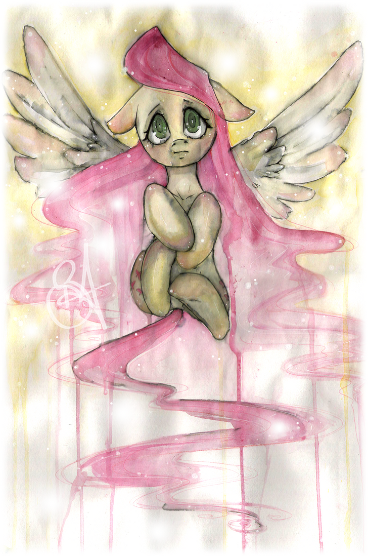 Fluttershys Flight by Cindacry
