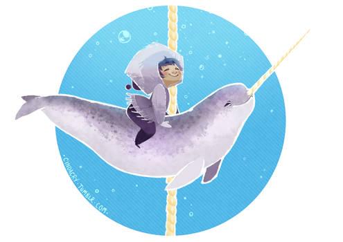 Cetacean Carousel - Narwhal Love