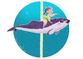 Cetacean Carousel - Spectacled Porpoise