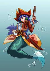 [Commission for Speedrobo] Pirate Mermaid by JulianVanist