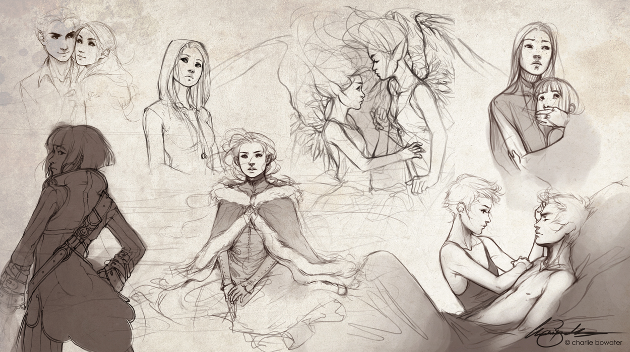Sketches VII by Charlie-Bowater