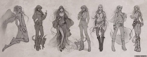 Sketches IX by Charlie-Bowater