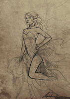 Lilith Sketch by Charlie-Bowater