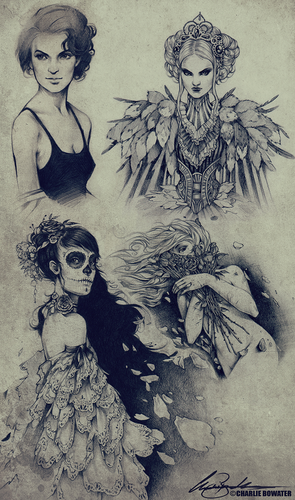 Sketches XVIII by Charlie-Bowater