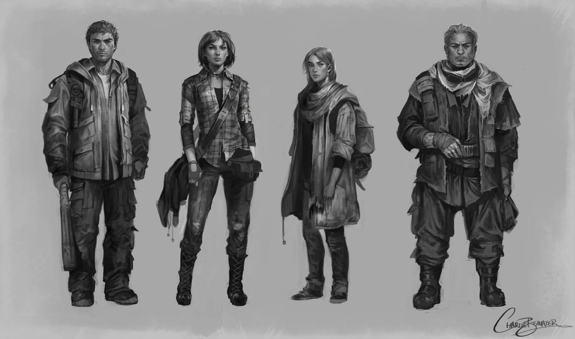 Character Line Up By Charlie Bowater On Deviantart
