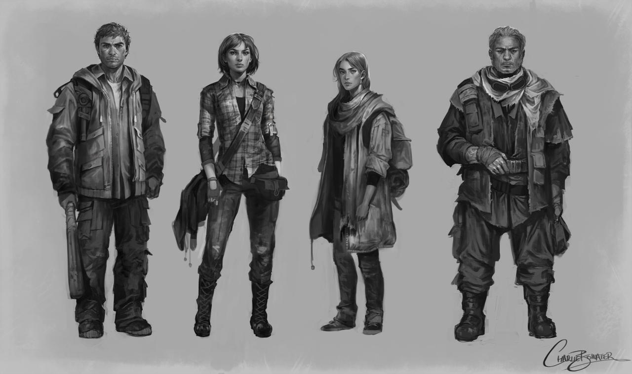 Character Line-up by Charlie-Bowater