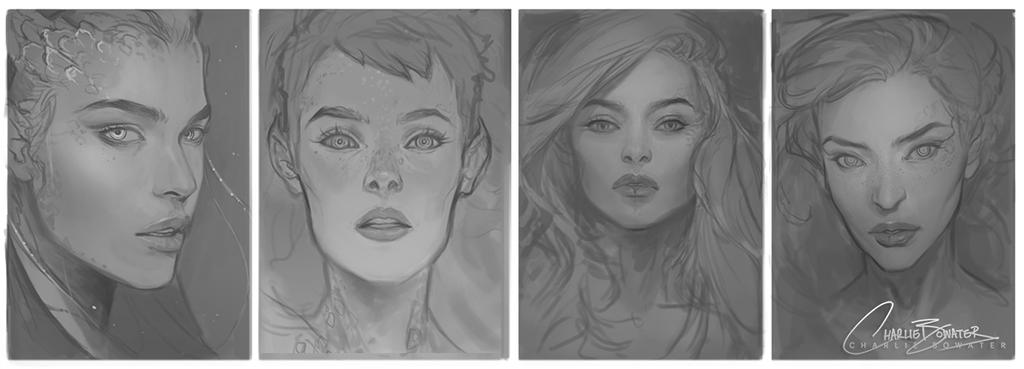 ImagineFX Issue 114 Cover Sketches