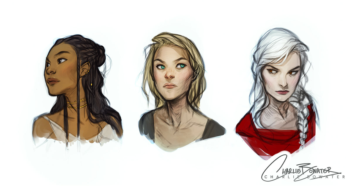 Throne of Glass Sketches by Charlie-Bowater on DeviantArt