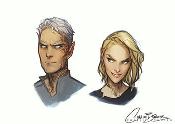 Aelin and Rowan by Charlie-Bowater