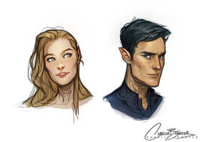 Rhys and Feyre by Charlie-Bowater