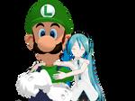 [MMD] Luigi and Miku