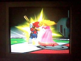 Mario Hits Peach With A Bat