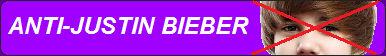 Anti-Justin Bieber Fan Button