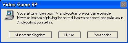 Error Message: Video Game RP