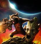 Rocket Raccoon and Groot - WIP