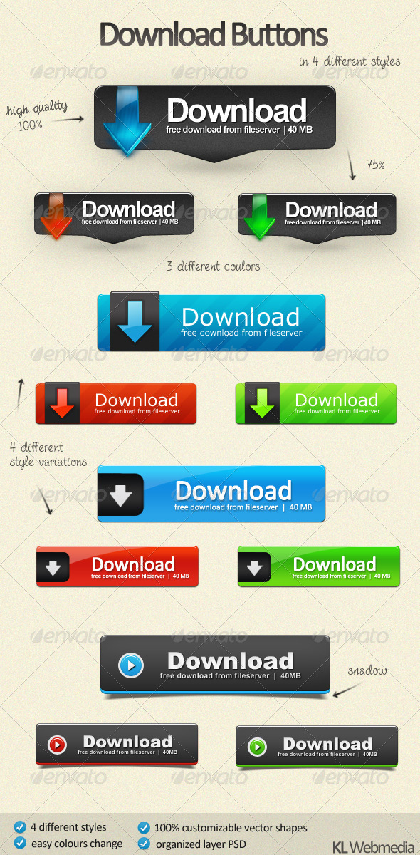 Download Buttons Pack by KL-Webmedia