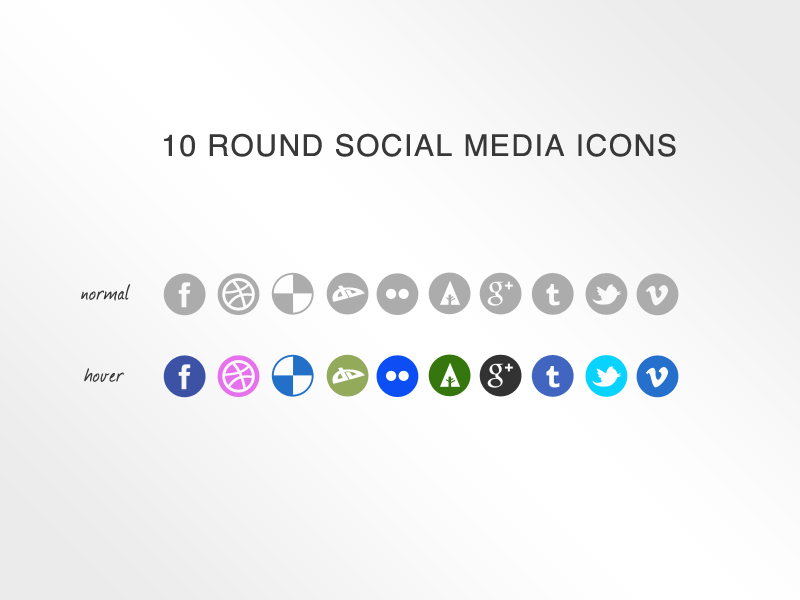 10 Social Media Icons by KL-Webmedia