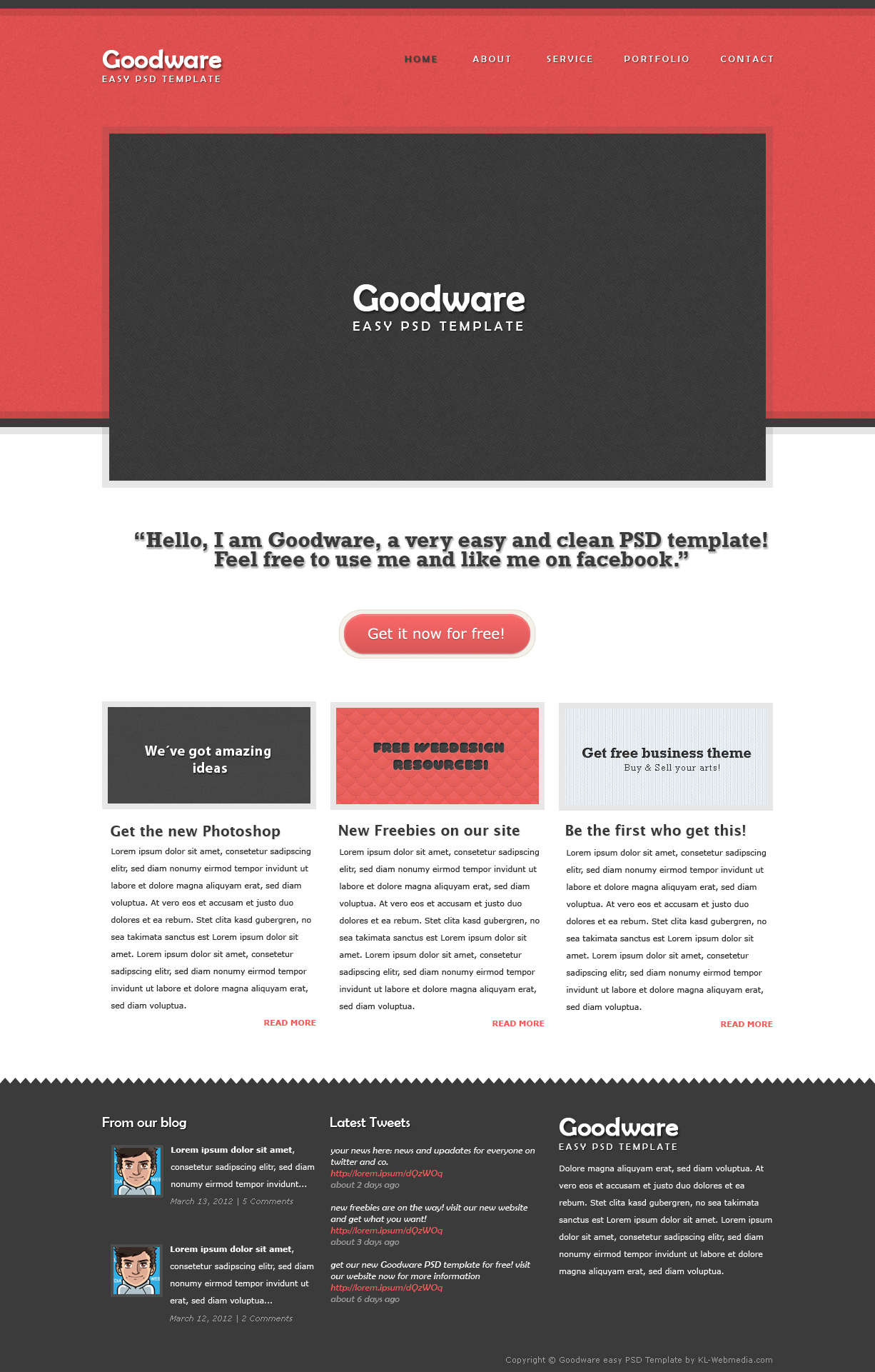 Goodware easy PSD template by KL-Webmedia