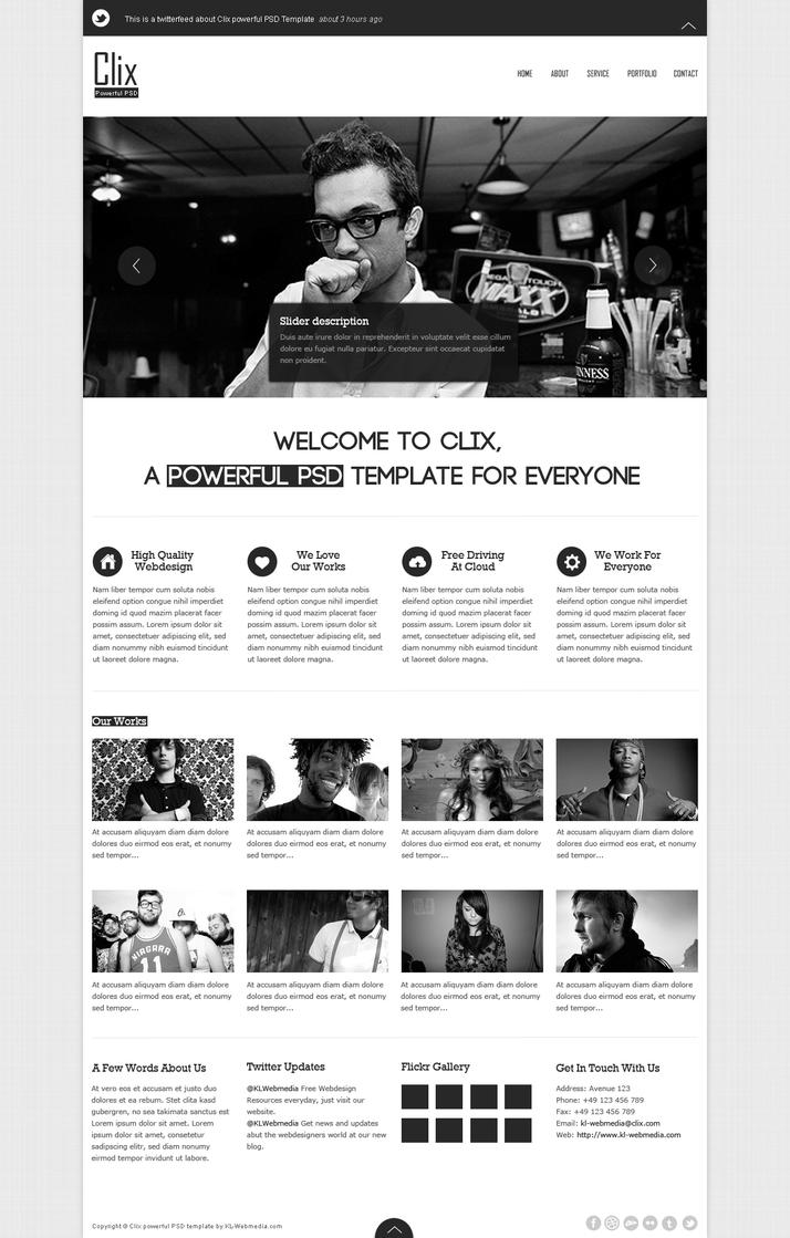 Clix powerful PSD template by KL-Webmedia