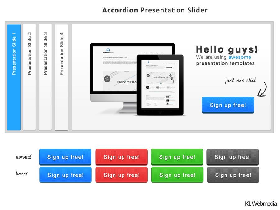 Presentation slider