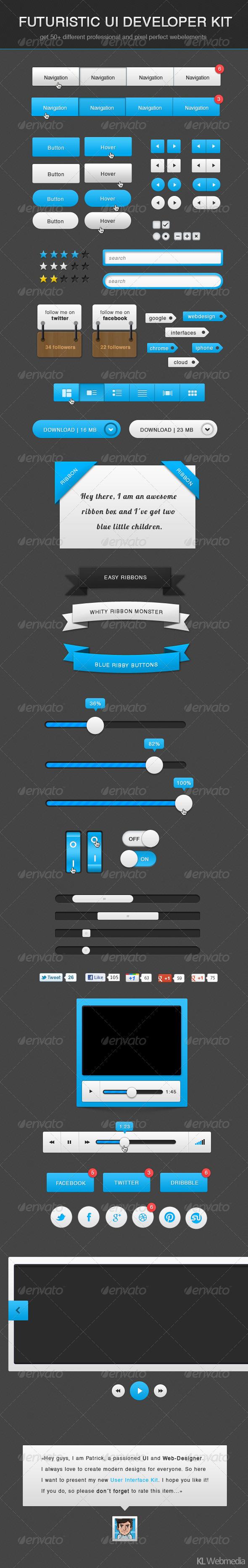 Futuristic Developer UI Kit by KL-Webmedia