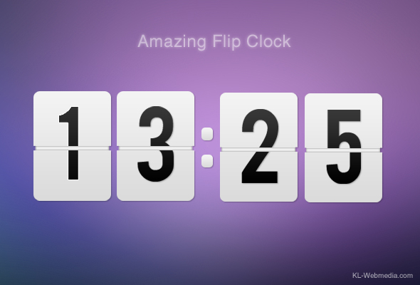 Amazing Flip Clock by KL-Webmedia