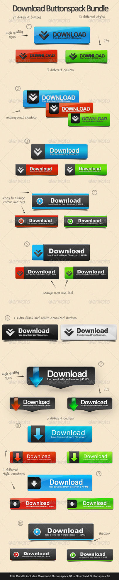 Download Buttonspack Bundle by KL-Webmedia