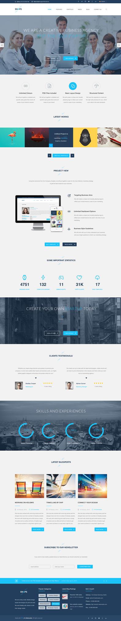 Snaps - Creative Wordpress Theme by KL-Webmedia