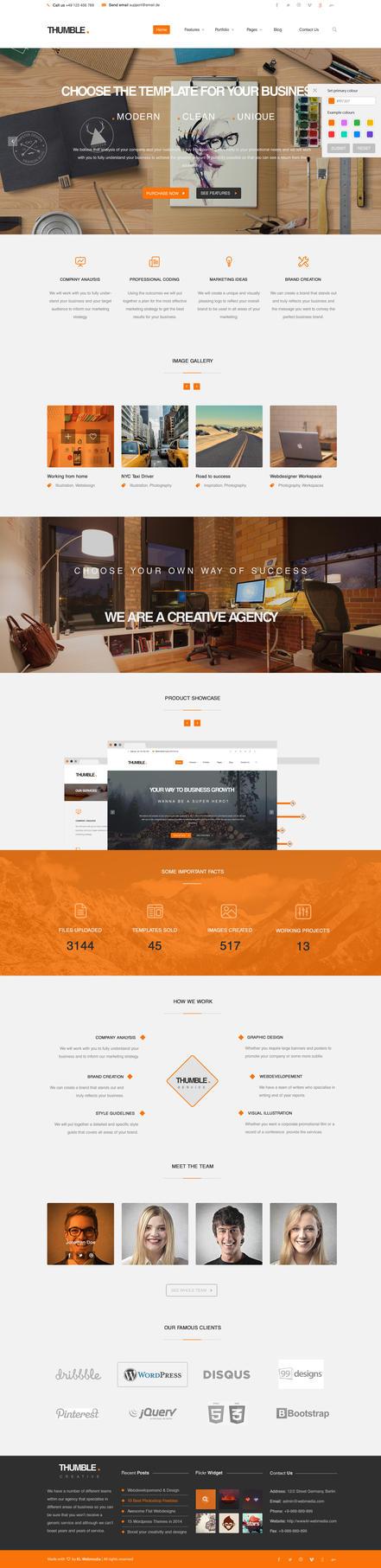 Thumble - Creative Wordpress Theme by KL-Webmedia