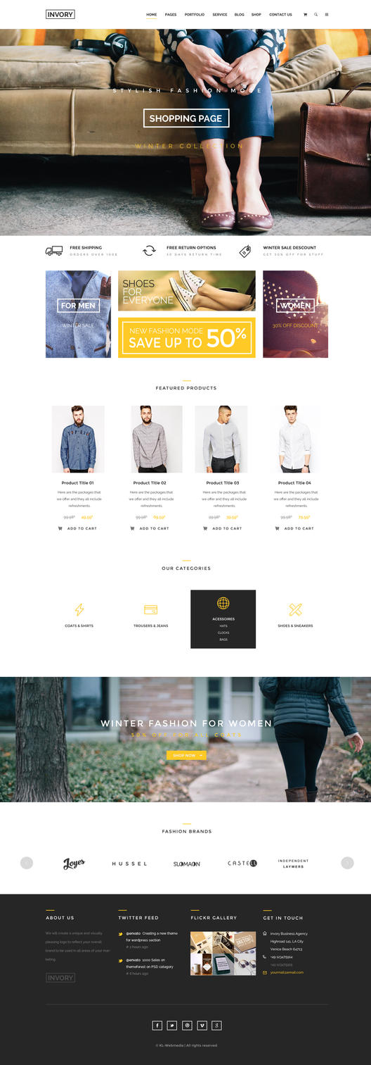 Invory Shopping Homepage by KL-Webmedia