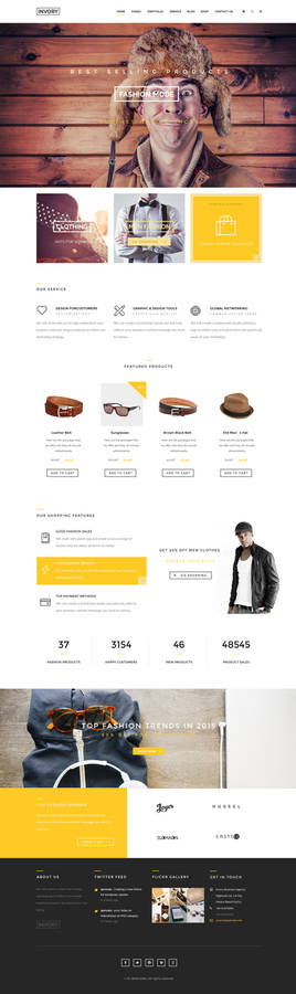 Invory - Multi Purpose PSD Template