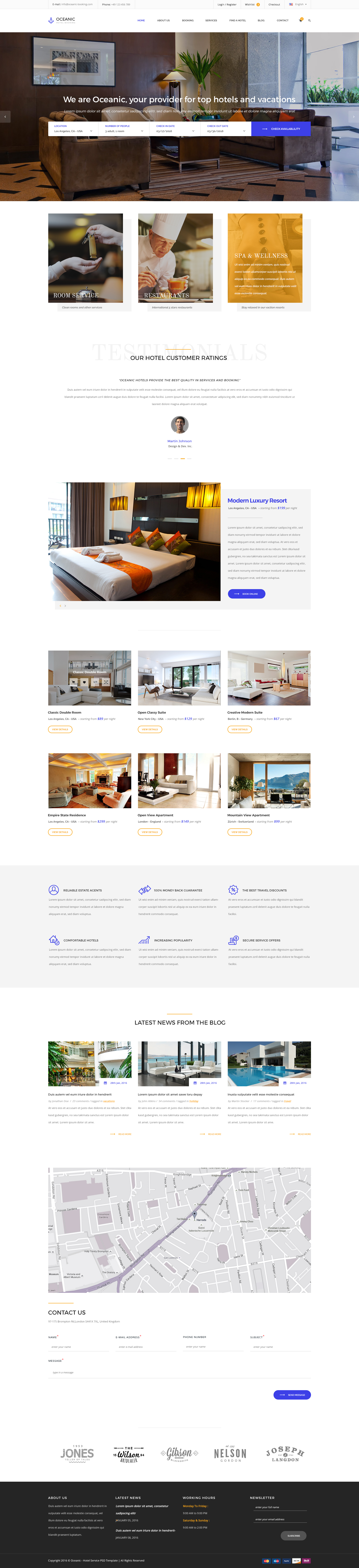 Oceanic - Hotel Booking PSD template by KL-Webmedia