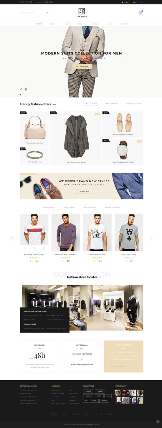 Trendify Fashion Ecommerce Wordpress Theme By Kl Webmedia On Deviantart