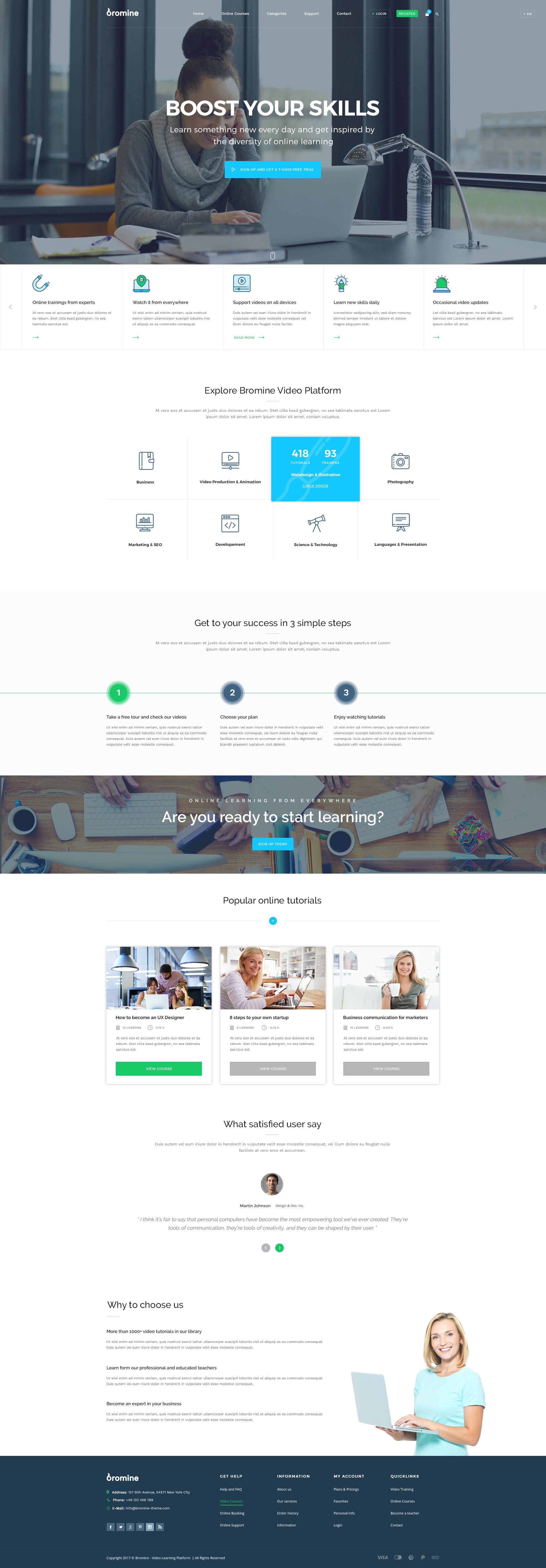 Bromine - Online Learning Platform template by KL-Webmedia
