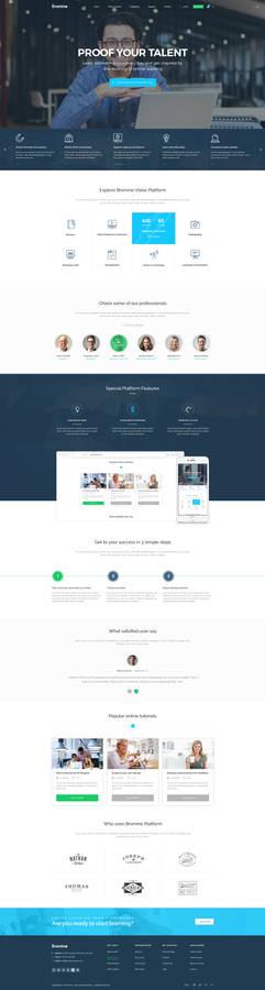 Bromine - Online Learning Platform template