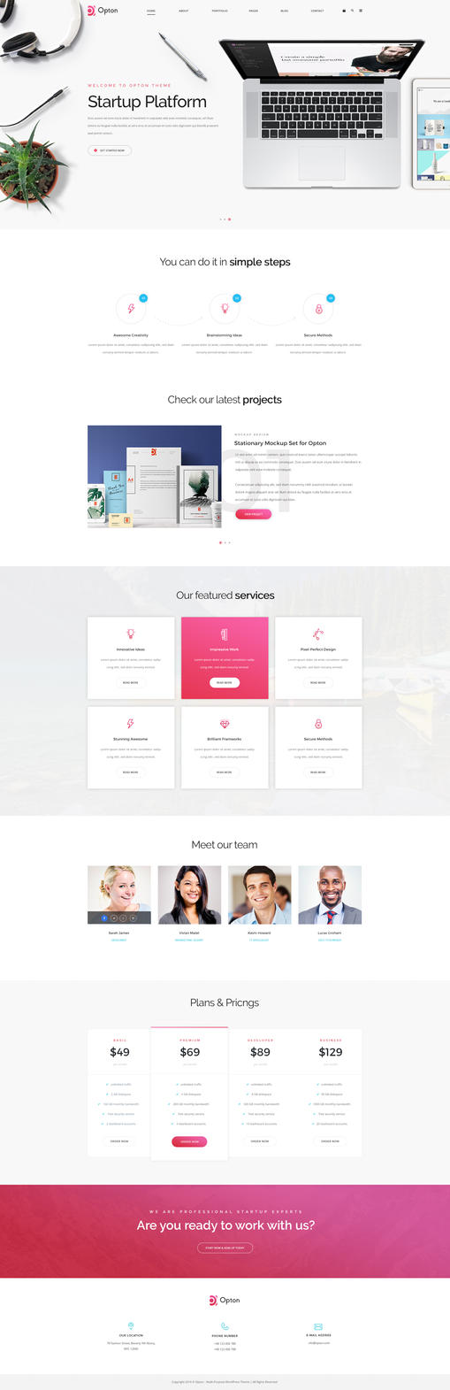 Opton - Multi-Purpose PSD Template by KL-Webmedia