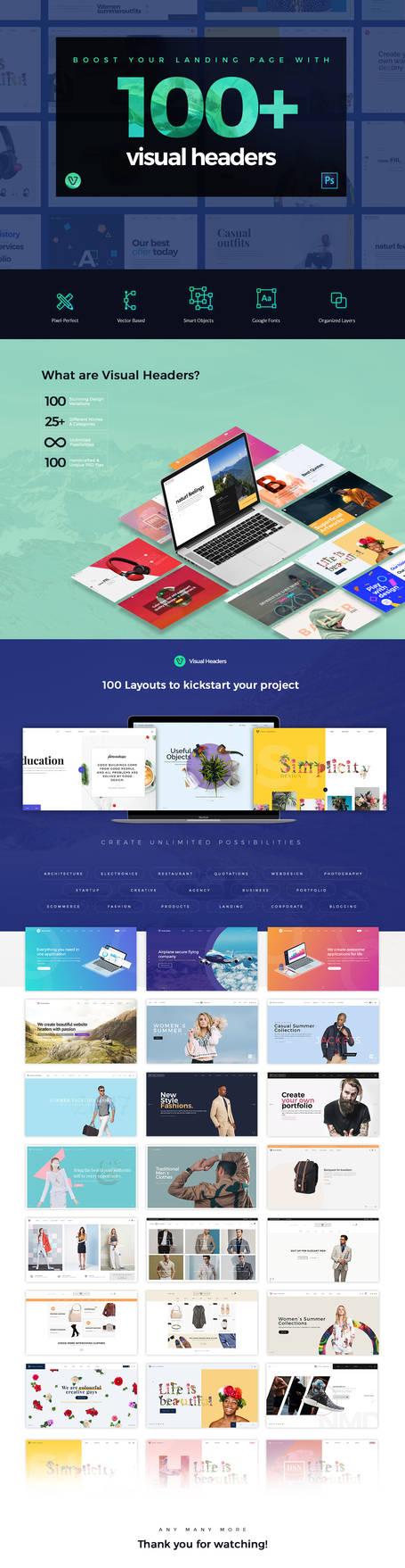 Visual Website Headers