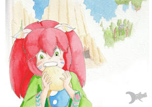 Popoi, the elf child from Secret of Mana