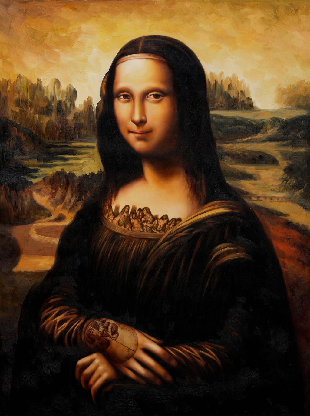 Mona Lisa DaVinci'd V.1 By S.Creighton by SCreighton on ... Da Vinci Mona Lisa